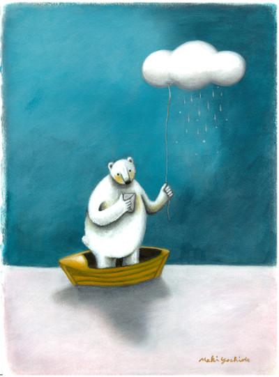 曇り空とボートw